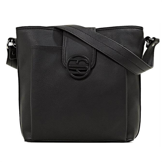 Esprit Logo Faux Leather Shoulder Bag