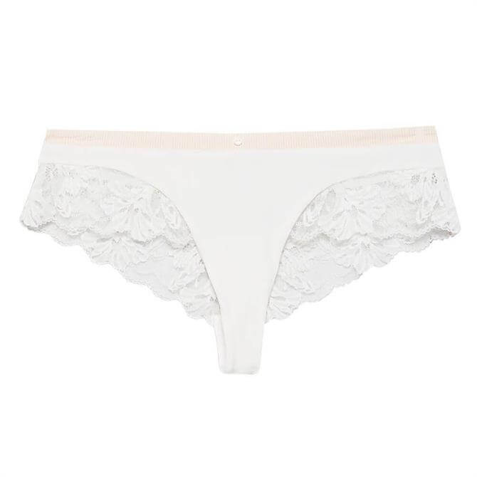 Esprit Mackay Stripe & Lace Brazilian Brief