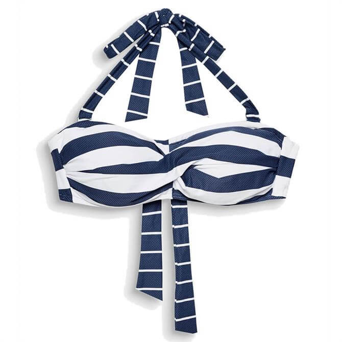 Esprit North Beach Block Stripe Halterneck Bikini Top