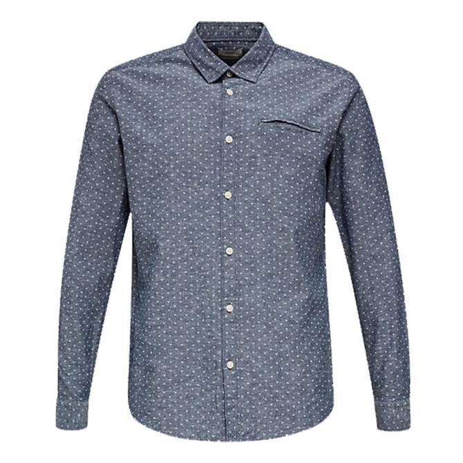 Esprit Blended Linen Micro Print Shirt