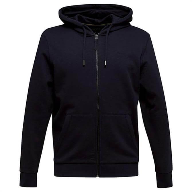 Esprit Navy Hooded Full Zip Sweatshirt