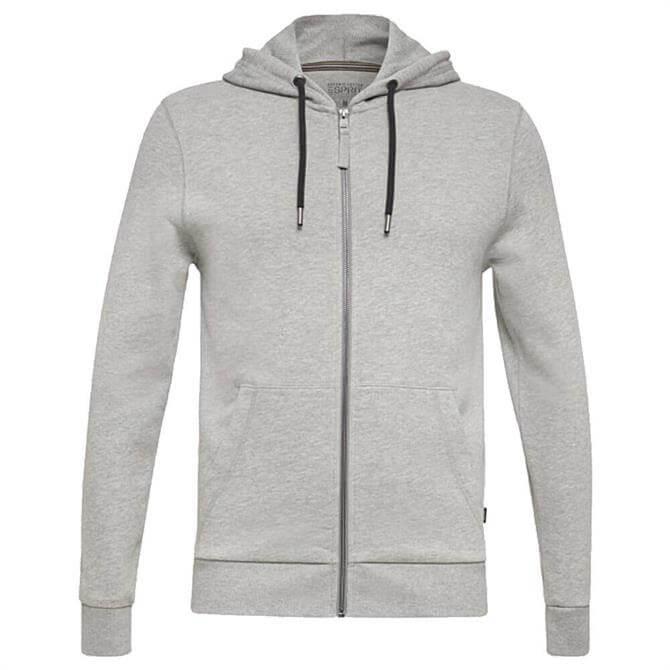 Esprit Grey Hooded Full Zip Sweatshirt
