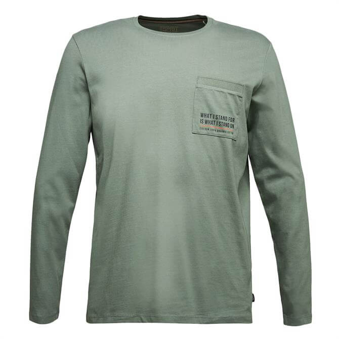 Esprit Long Sleeve Sustainable Pocket Jersey Top