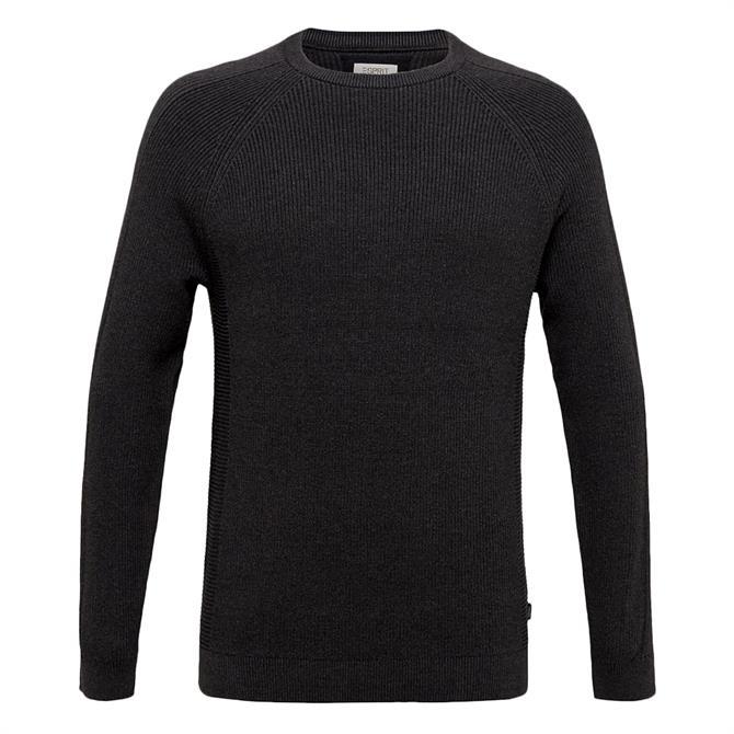 Esprit Textured Knit Crew Neck Sweater