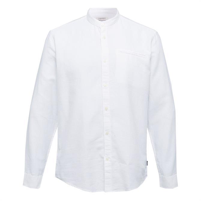 Esprit Textured Stand Up Collar Shirt