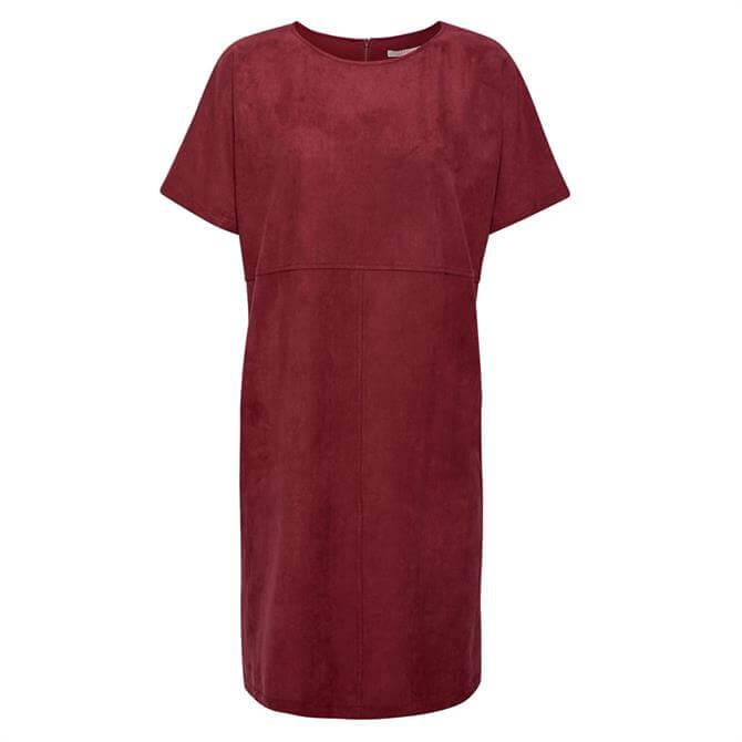 Esprit Faux Suede Short Sleeve Dress