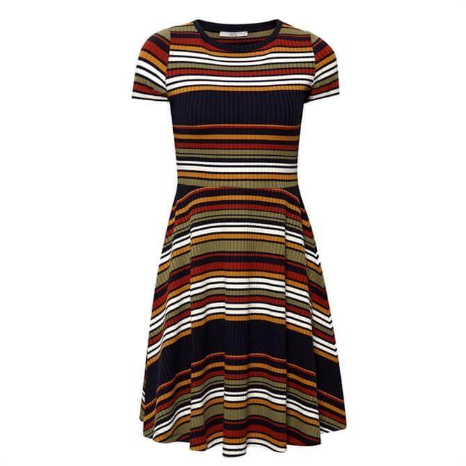 Esprit Knit Dress With Stripes