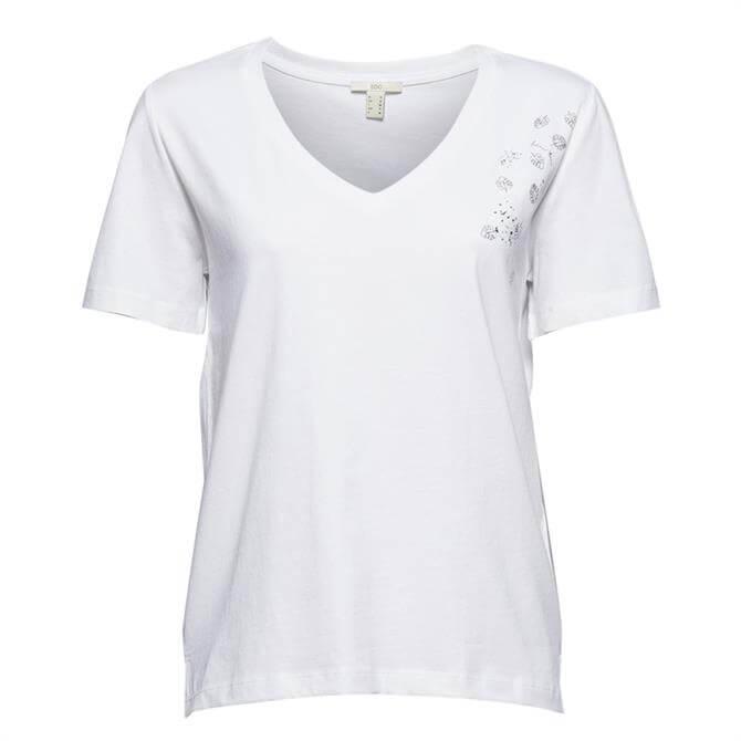 Esprit Soft Jersey T-Shirt - White