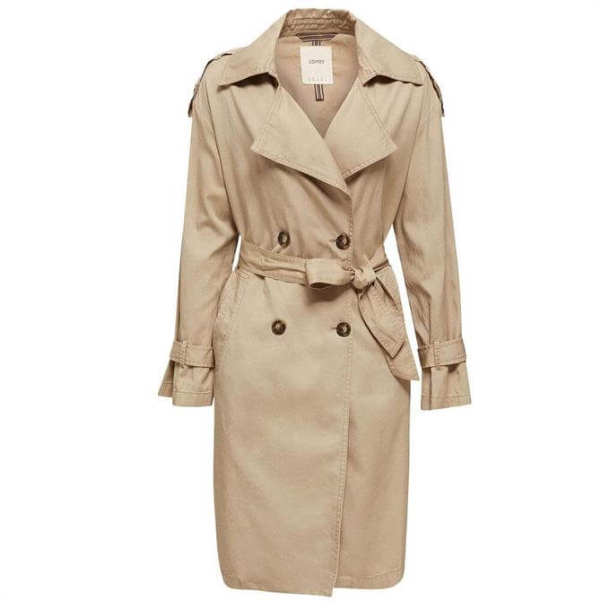 Esprit Casual Relaxed Fit Trench Coat
