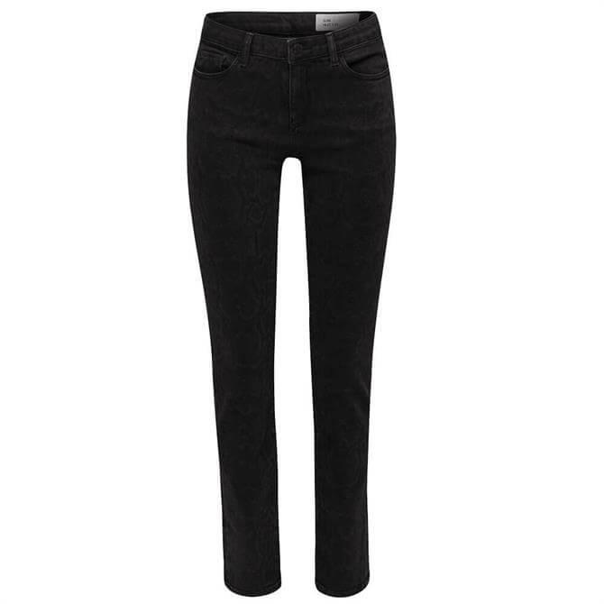 Esprit Snakeskin Print Stretch Jeans