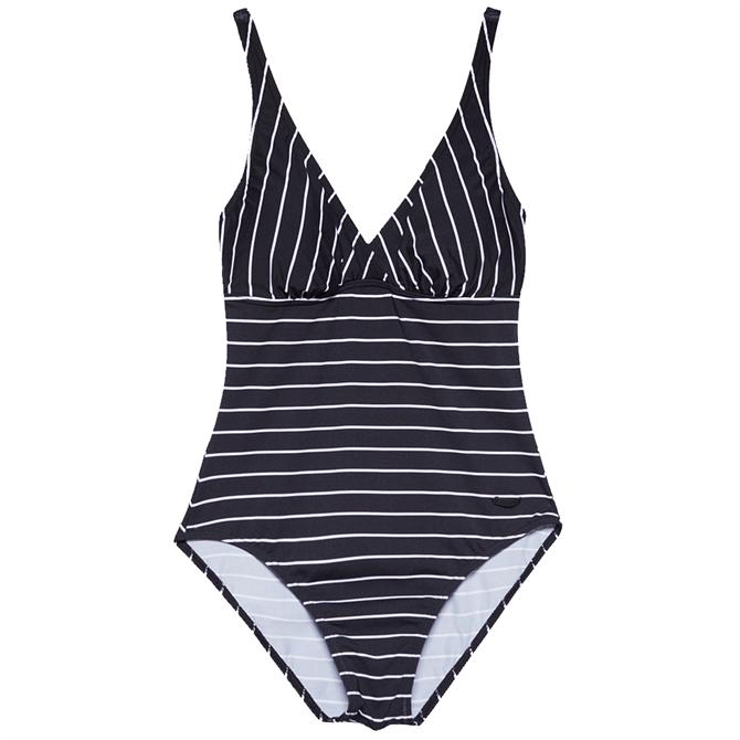 Esprit Black White Striped Swimsuit