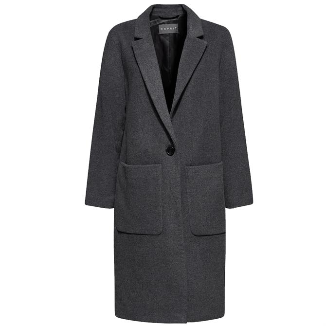 Esprit Boyfriend Coat with Cashmere