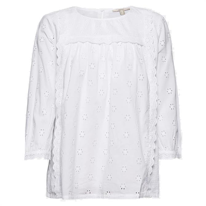 Esprit Broderie Anglaise Organic Cotton Blouse
