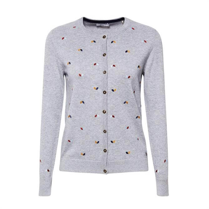 Esprit Embroidered Button Cardigan