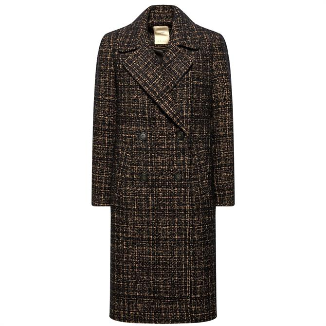 Esprit Double Breasted Bouclé Coat