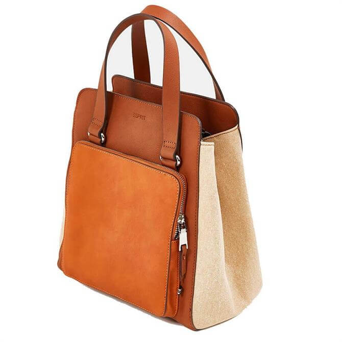 Esprit Cody Faux Leather and Canvas Shoulder Bag