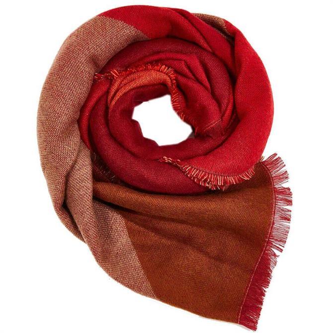 Esprit Colour Block Red Scarf