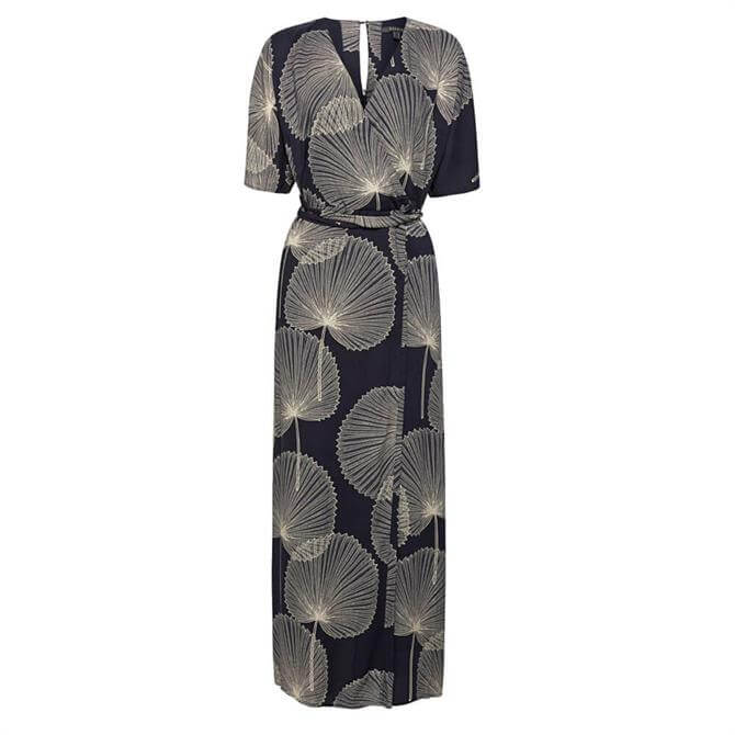 Esprit Leaf Print Wrap Dress