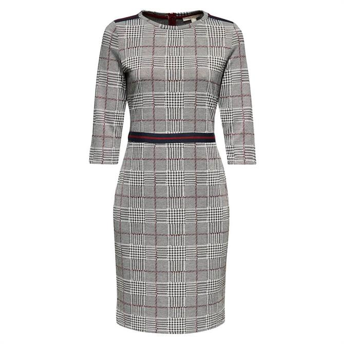 Esprit Jersey Check Dress