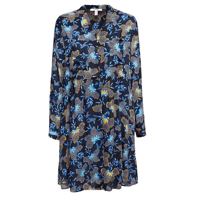 Esprit Floral Loose Fit Shirt Dress