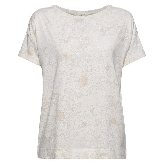 Esprit Floral Print Sustainable Fabric Cloudy T-Shirt