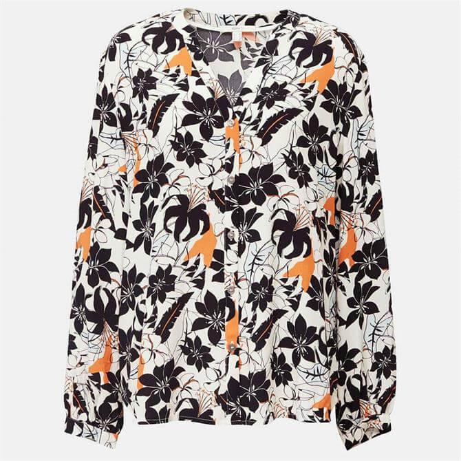 Esprit Floral Print Long Sleeve Blouse