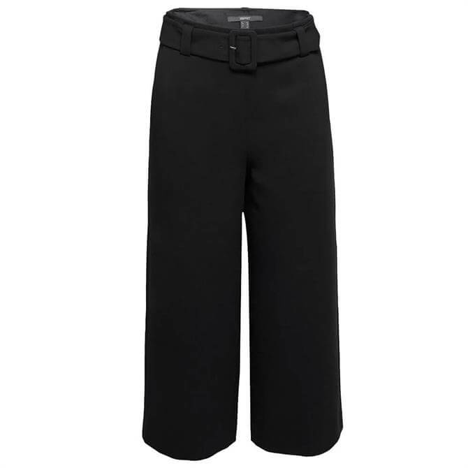 Esprit High-Waisted Black Culottes