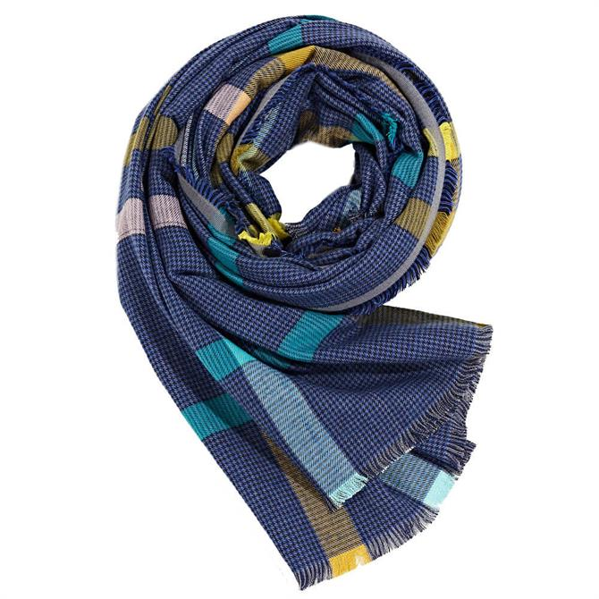 Esprit Houndstooth and Colour Block Print Scarf