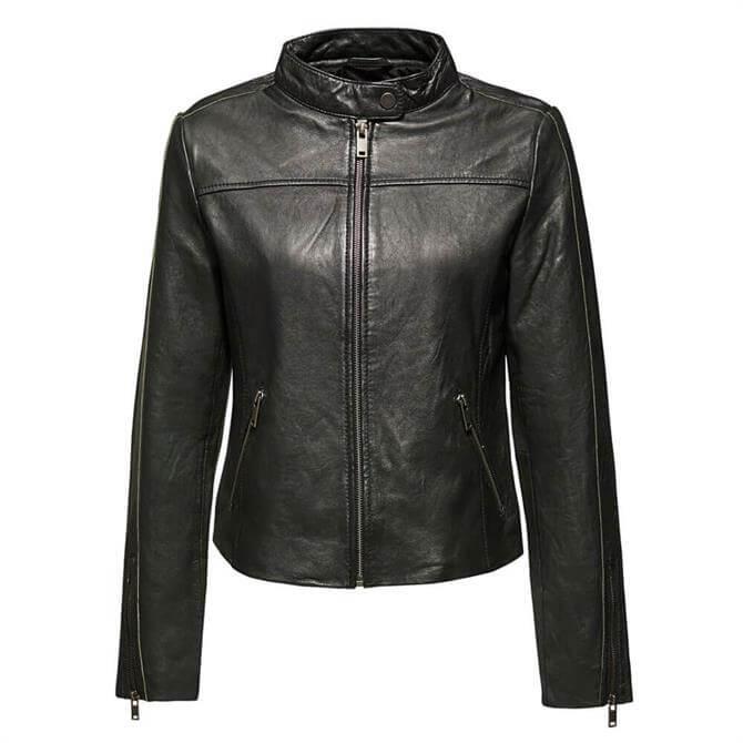 Esprit Short Biker Leather Jacket