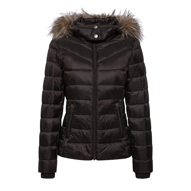 Esprit Hooded Quilted Jacket