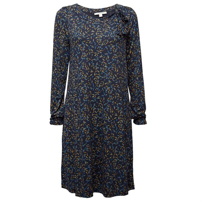 Esprit Long Sleeve Print A-Line Dress