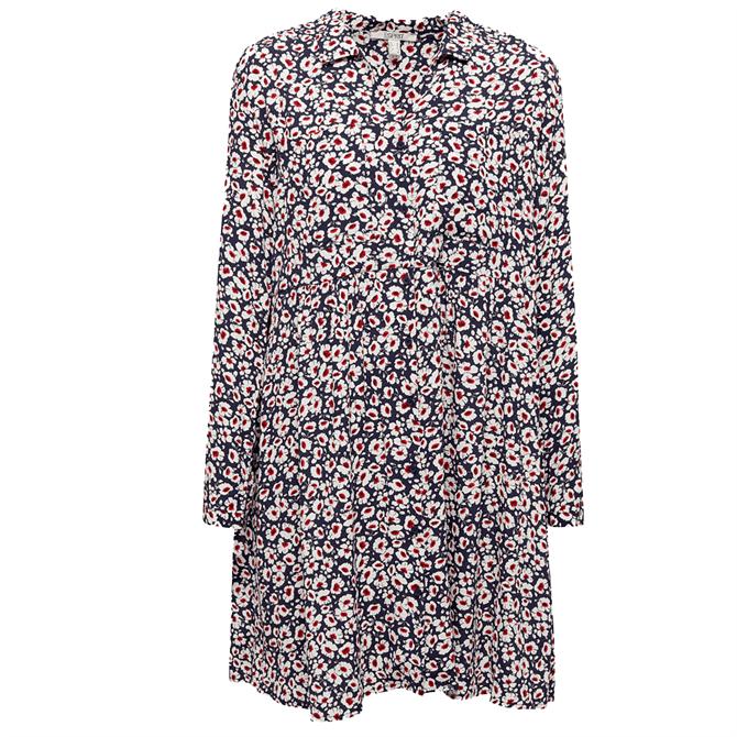 Esprit Long Sleeve Floral Print Shirt Dress