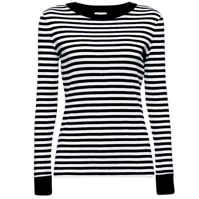Esprit Long Sleeve Striped Organic Cotton Top