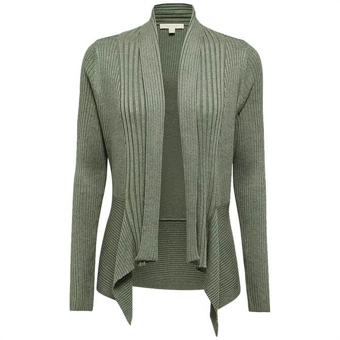 Esprit Sustainable Open-Front Ribbed Cardigan