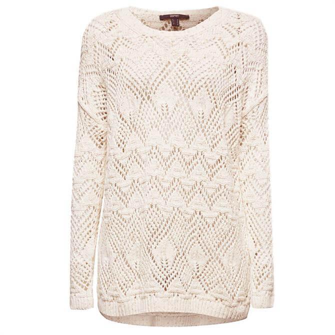 Esprit Openwork 100% Cotton Sweater