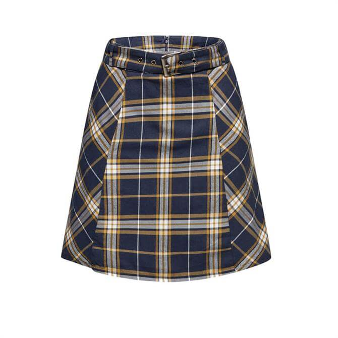 Esprit Flared Check Cotton Skirt