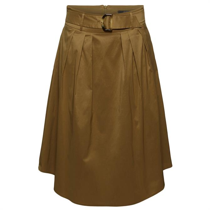 Esprit Midi Skirt With Belt