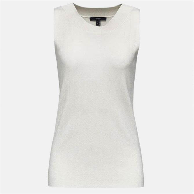 Esprit Sleeveless Knitted Ribbed Top