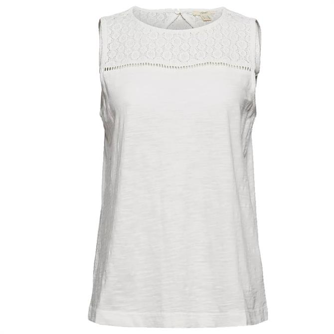 Esprit Sleeveless Top with Crocheted Lace