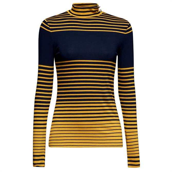 Esprit Roll Neck Stripe Top