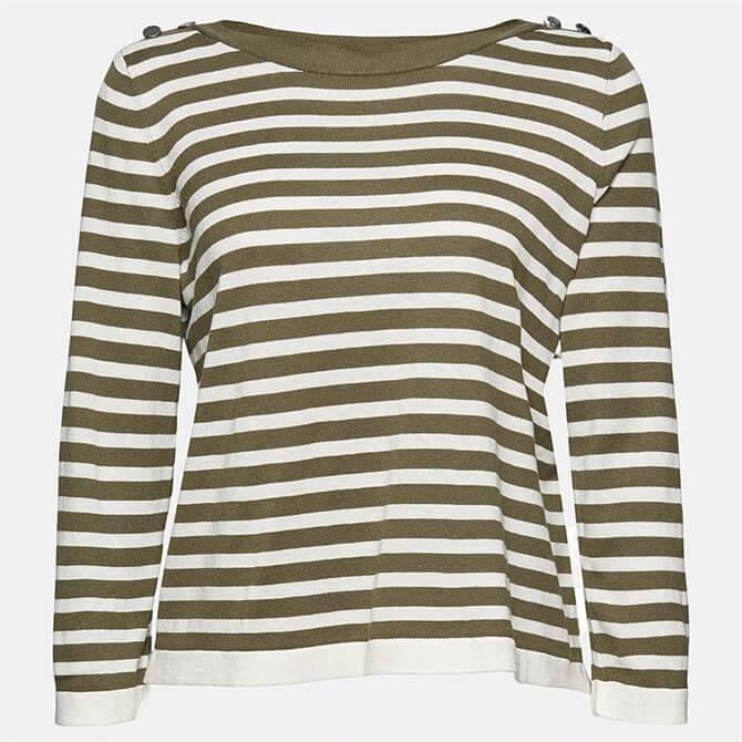 Esprit Striped Layered Effect Women's Sweater