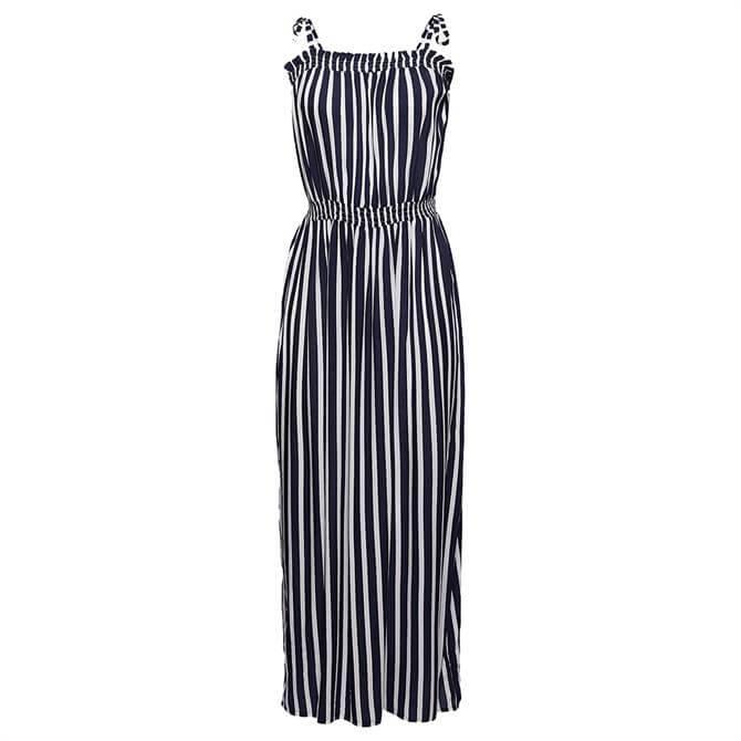 Esprit Sustainable Striped Maxi Beach Dress