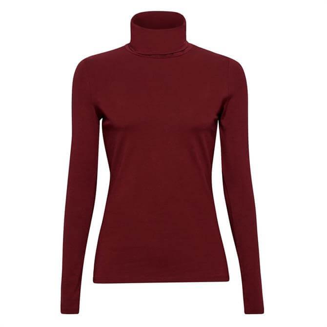 Esprit Long Sleeve Polo Neck Top