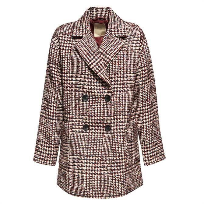 Esprit Double Breasted Tweed Coat