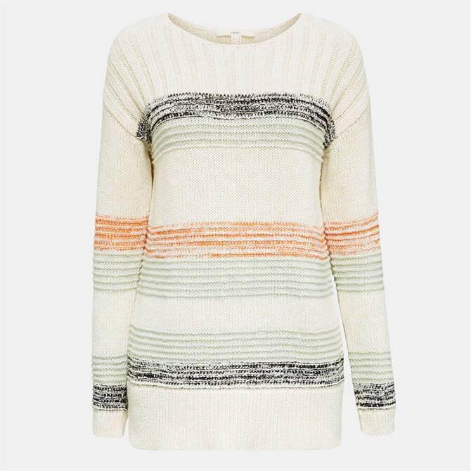 Esprit Womens 100% Cotton Striped Sweater