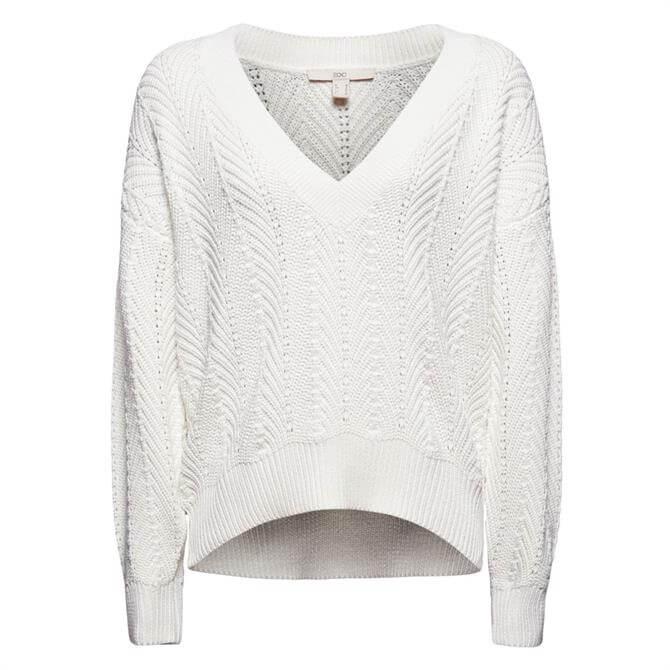 Esprit Textured V Neck Sweater