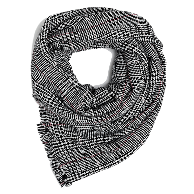 Esprit Prince of Wales Check Pattern Scarf