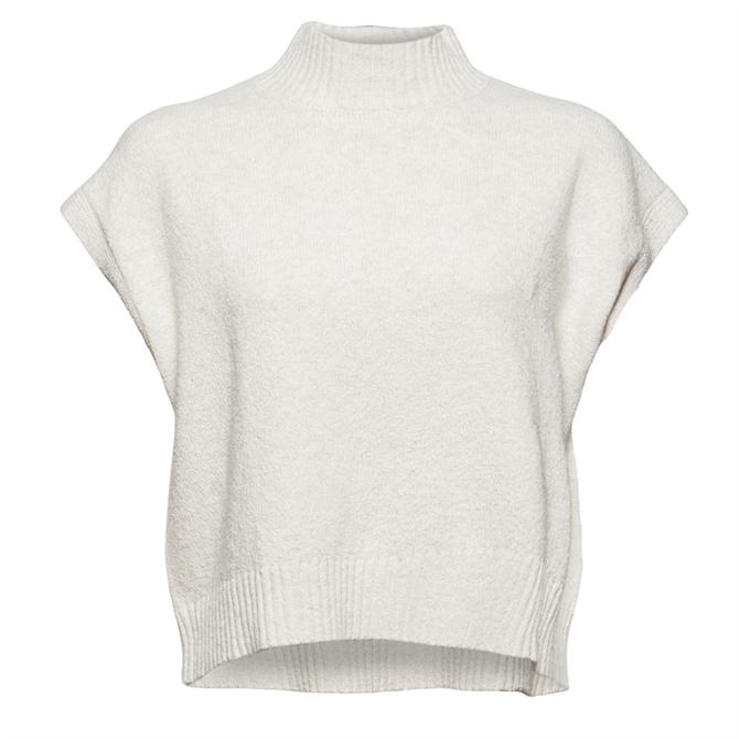 Esprit Wool Blend Knitted Bodywarmer & Collar