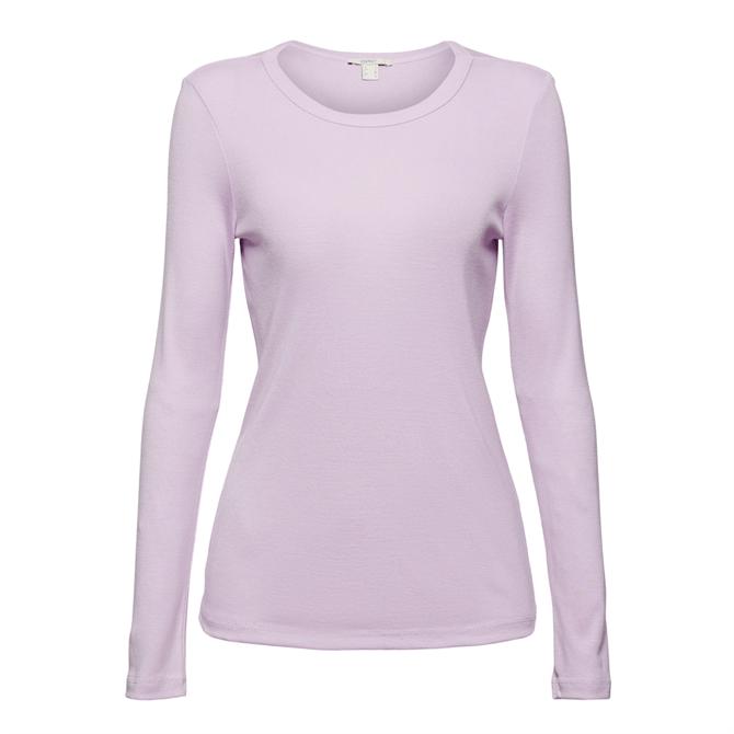Esprit Lilac Long Sleeved T-Shirt