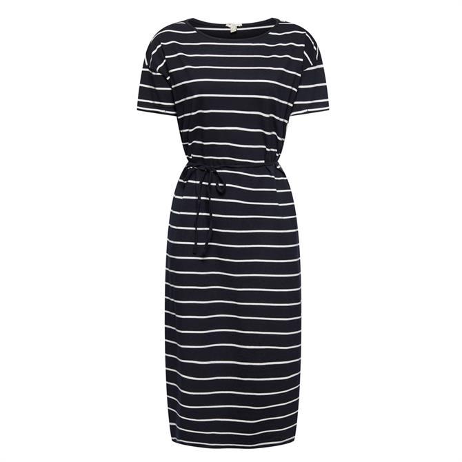 Esprit Dress With Striped Tie Belt